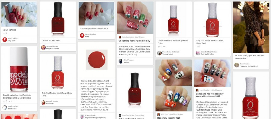 40615 DOWN RIGHT RED PINTREST