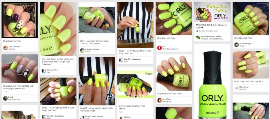 20843 ORLY LAQ KEY LIME TWIST pineterest