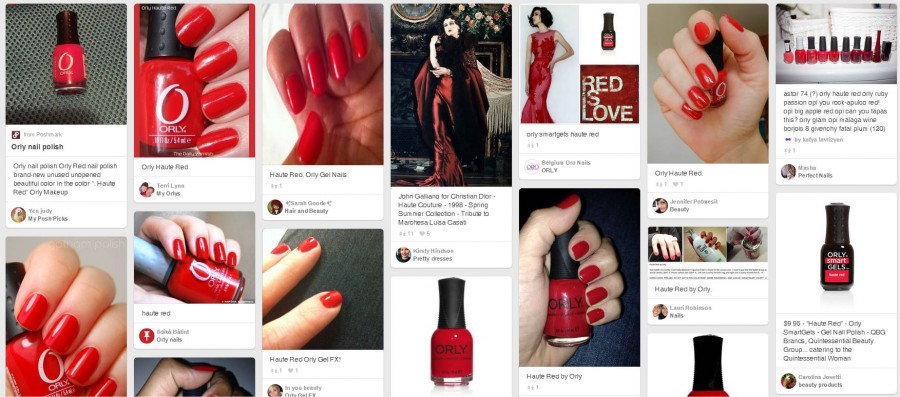 30001 haute red Orly - lac clasic cremos PINTREST